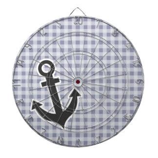 Gray-Blue Gingham; Anchor Dartboard