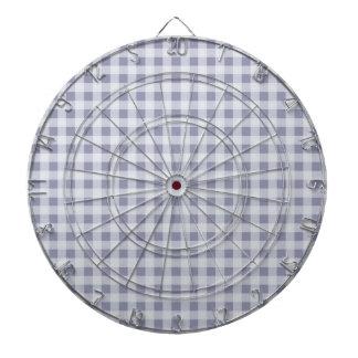 Gray-Blue Gingham; Checkered Dartboard