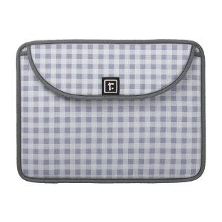 Gray-Blue Gingham; Checkered Sleeve For MacBooks