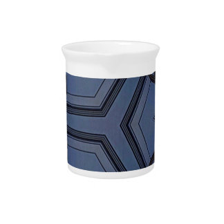 Gray Blue Hip Arrows Geometric Pattern Pitcher