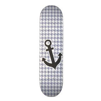 Gray-Blue Houndstooth Skate Board Decks