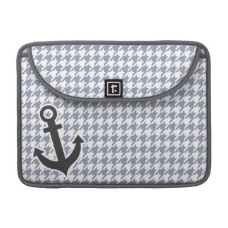 Gray-Blue Houndstooth Sleeve For MacBooks
