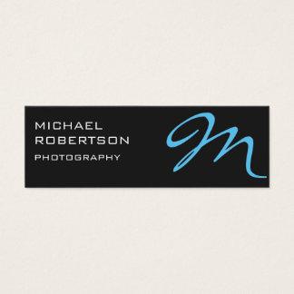 Gray Blue Monogram Photographer Business Card