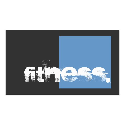 Gray Blue Personal Trainer Fitness Business Card