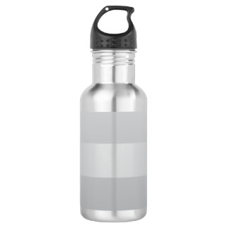 Gray Blue Stripes Stainless Steel Water Bottle