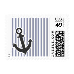 Gray-Blue Vertical Stripes; Anchor Postage Stamps