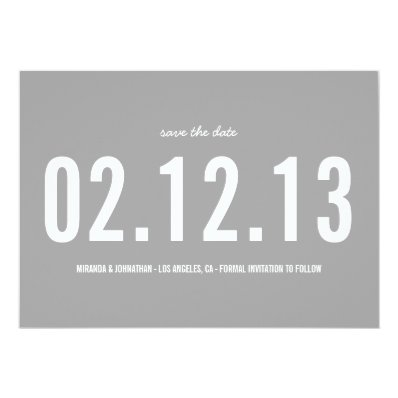 Gray Bold Photo Save The Date Announcements