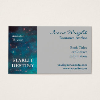 Gray Book Cover Author Business Card
