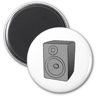 Gray Boombox 2 Inch Round Magnet