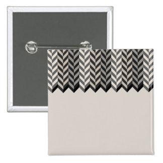 Gray Bordered Herringbone Stripes Pattern Pinback Buttons