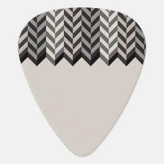 Gray Bordered Herringbone Stripes Pattern Pick
