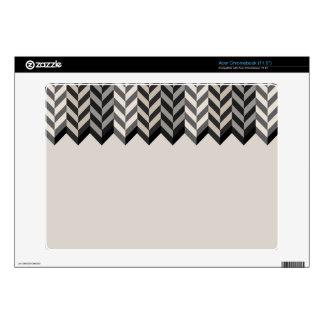 Gray Bordered Herringbone Stripes Pattern Skins For Acer Chromebook