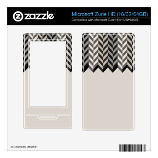 Gray Bordered Herringbone Stripes Pattern Decals For The Zune HD