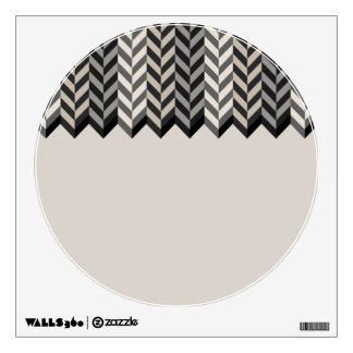 Gray Bordered Herringbone Stripes Pattern Wall Decal