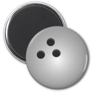 Gray Bowling Ball 2 Inch Round Magnet