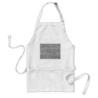 Gray brick wall background adult apron
