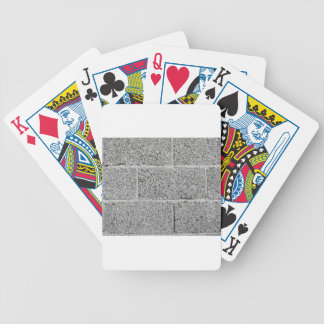 Gray brick wall background bicycle playing cards