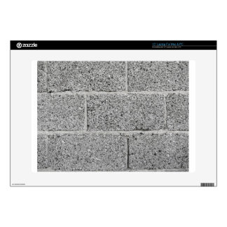 Gray brick wall background decals for laptops