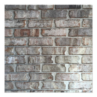 Gray Brick Wall Grunge Bricks Background Texture Card