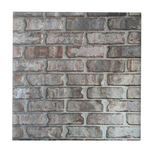 Gray Brick Wall Grunge Bricks Background Texture Ceramic Tile Zazzle