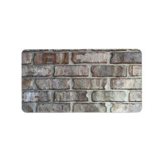 Gray Brick Wall Grunge Bricks Background Texture Label