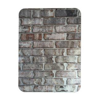 Gray Brick Wall Grunge Bricks Background Texture Rectangular Photo Magnet