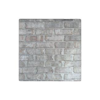 Gray Brick Wall Grunge Bricks Background Texture Stone Magnet