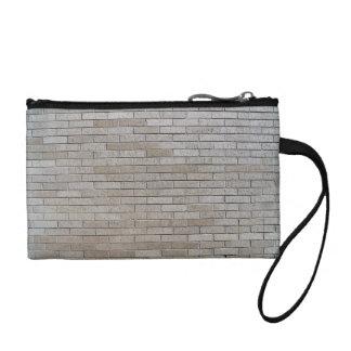 Gray Brick Wall Seamless Pattern Coin Wallets