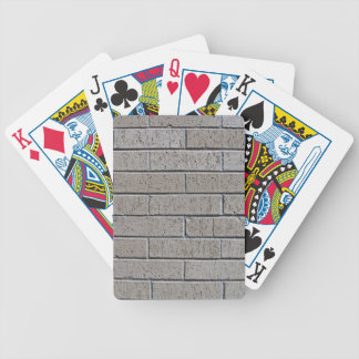 Gray Brick Wall Seamless Pattern Bicycle Playing Cards
