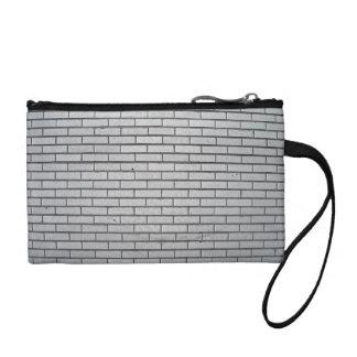 Gray Brick Wall Texture Change Purses