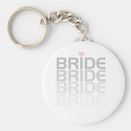 Gray Bride Fade Key Chain