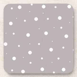 Gray Bubbles Beverage Coaster