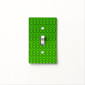 GRAY BUBBLES ON GREEN SINGLE TOGGLE LIGHT SWITCH LIGHT SWITCH COVER