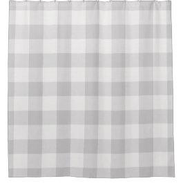 Gray Buffalo Check | Farmhouse Bath Decor Shower Curtain