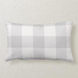 Gray Buffalo Check Farmhouse Lumbar Pillow