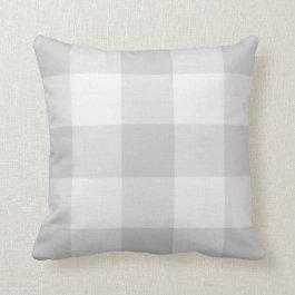 Gray Buffalo Check Farmhouse Throw Pillow