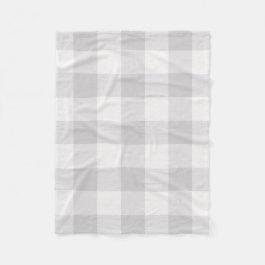 Gray Buffalo Check | Modern Farmhouse Decor Fleece Blanket