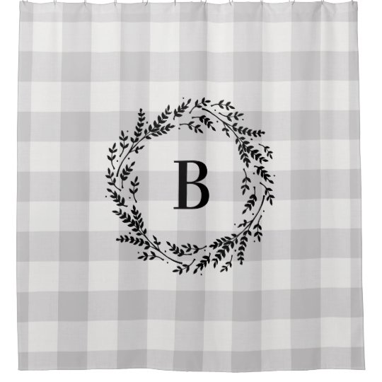 Gray Buffalo Check Monogram