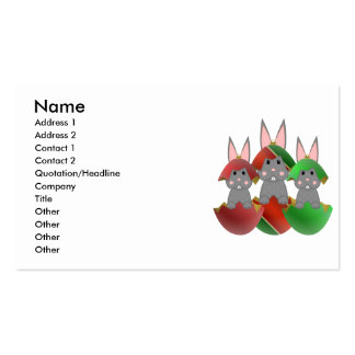 Gray Bunny In A Christmas Ornaments Business Cards