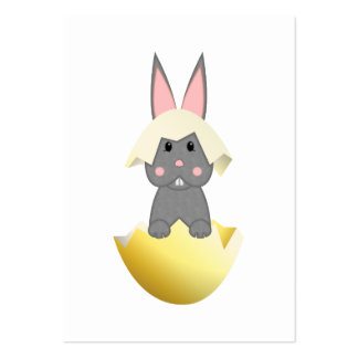 Gray Bunny In An Egg Business Card Templates