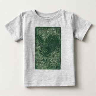Gray Bunny Rabbit In The Grass Baby T-Shirt