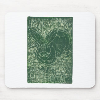 Gray Bunny Rabbit In The Grass Mouse Pad