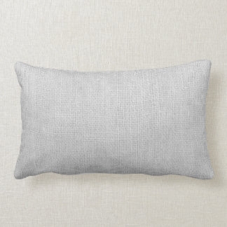 Gray Burlap Vintage Look Rustic Country Pillow