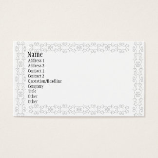 Gray Business Cards