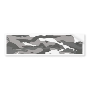 Gray Camo Bumper Sticker