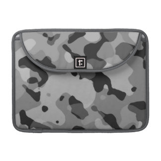 Gray Camo; Camouflage Sleeves For MacBook Pro
