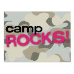Gray Camo CAMP ROCKS! Postcard