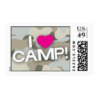 Gray Camo I LOVE CAMP! Stamp
