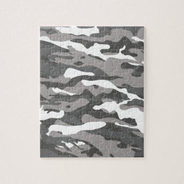 Gray Camo Jigsaw Puzzle