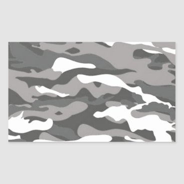 Gray Camo Rectangular Sticker